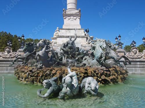 Foto op Canvas Fontaine Monument aux Girondins - Bordeaux