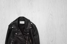 Black Leather Jacket Close-up ...