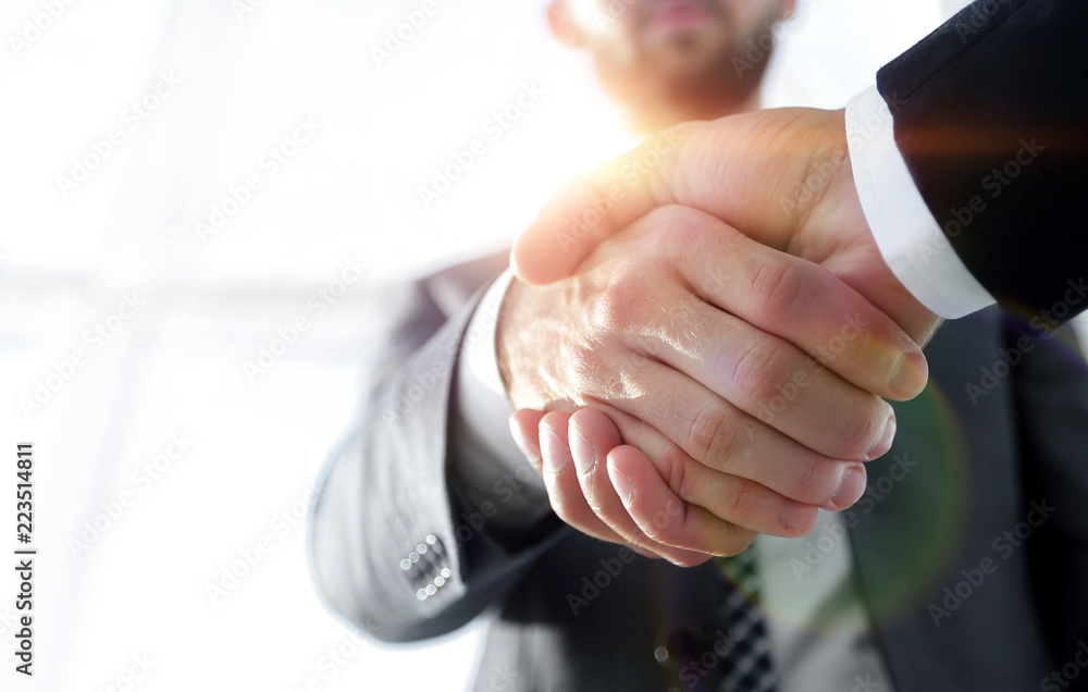 Fototapeta Effective negotiation with client. Business concept photo.