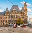 Öffentlicher Personennahverkehr vor dem Landgericht in Bremen