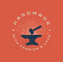 Vintage Handmade Label Badge W...