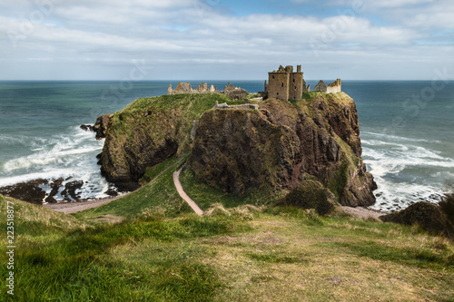 Dunnottar fortress or castle. Highlands of Scotland Canvas Print