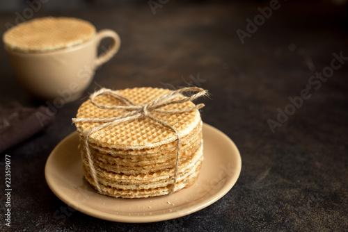 Dutch waffles, stroopwafel