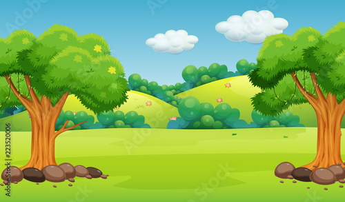 Photo Stands Kids A flat nature background