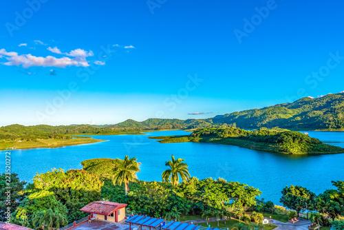 Hanabanilla Dam or Lake, Villa Clara, Cuba Billede på lærred