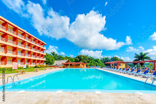 Leinwand Poster  Hanabanilla Hotel, a Masnatura Brand for Ecotourism-Cuba