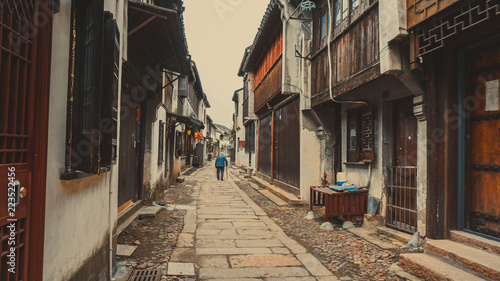 Acrylic Prints Narrow alley Narrow streets of the old town of Tongli. China