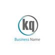 Initial Letter KQ Logo Template Design