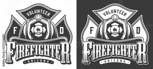 Photo Vintage firefighter logos