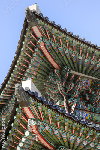 Photo  Detail of Gyeonbokgung Palace in Seoul, South Korea.