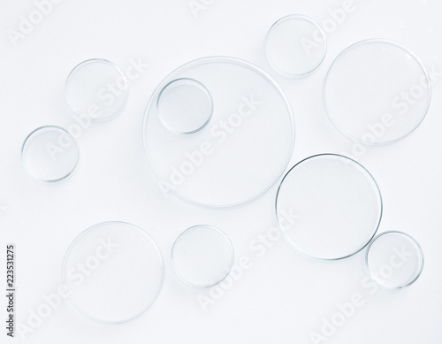 Photo  petri dish science equipment lab on white background