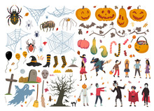 Halloween Collection, Illustration, Doodle, Sketch, Drawing, Vector
