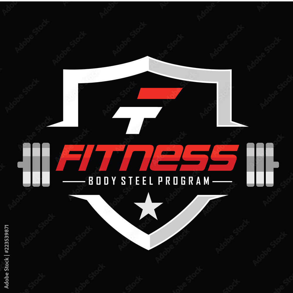 Fitness and Bodybuilding Logo design inspiration Vector <span>plik: #223539871 | autor: winner creative</span>