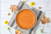 Baking Dish With Tasty Pumpkin...