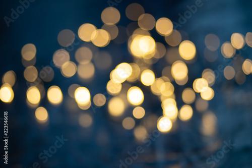 Bokeh background, colorful blurred lights, sparkles