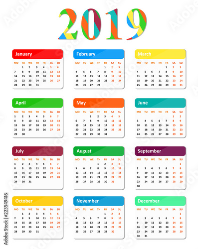 Year Calendar Buy : Colored calendar year buy this stock vector and