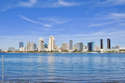 Poster Stad gebouw San Diego, California cityscape
