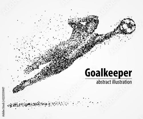 Foto abstract, football, goalkeeper, athlete