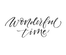 Wonderful Time Card. Modern Ve...