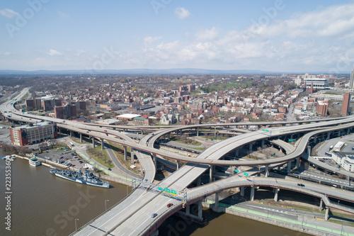 Valokuva  Albany New York Freeway Interchange
