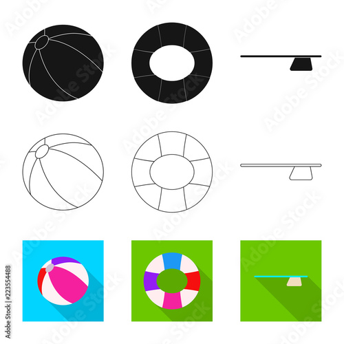Photo  Isolated object of pool and swimming symbol