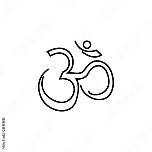 hinduism religious belief icon on white background. Diwali Hindu festival elements for graphic and web design on white background