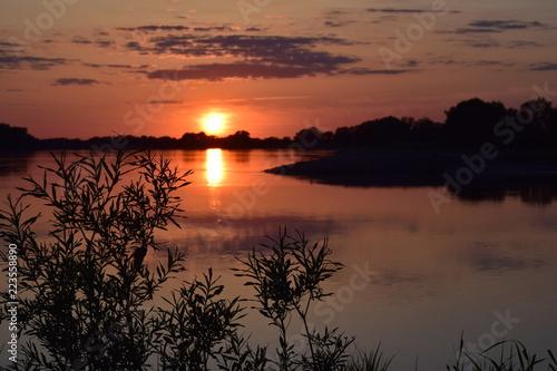 Fototapety, obrazy: Sonnenuntergang Elbe