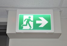 Lighted Emergency Evacuation Sign