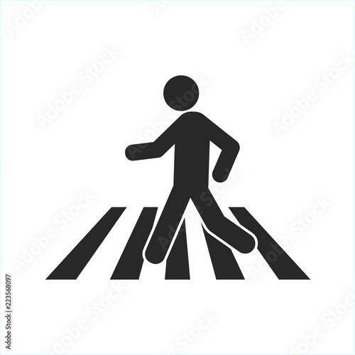 Fényképezés Man silhouette crossing crosswalk