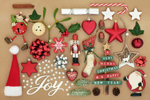 Christmas Joy Sign With Retro ...