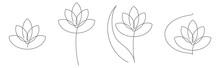 Flower Lotus Continuous Line V...