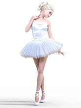 Dancing Ballerina 3D. White Ba...