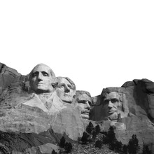 Mount Rushmore Nation Memorial South Dakota Vector Presidents Landmark Lincoln Washington Jefferson Roosevelt