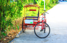 A Pedicab Used To Transport People In The Philippines