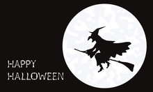 Silhouette Of Witch Flying In ...
