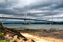 Firth Of Forth (Queensferry Crossing And Forth Road Bridge)