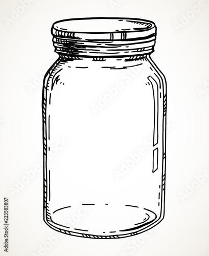 Hand drawn mason jar Fototapet