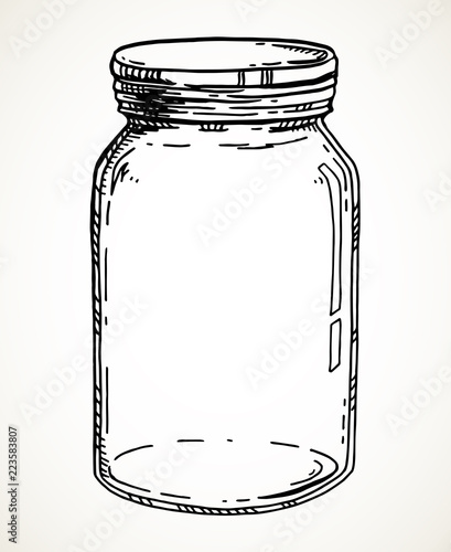 Stampa su Tela Hand drawn mason jar