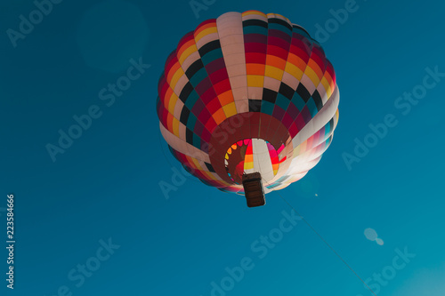 Photo  Hot Air Balloon Ride Over The Wasatch Mountains In Utah USA