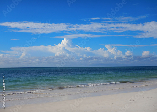 Fotografie, Obraz  Seascape at Indian ocean, clear blue water, and blue sky