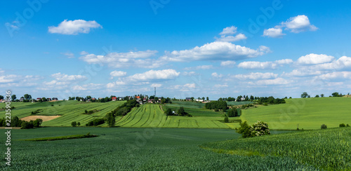Spoed Foto op Canvas Blauwe hemel arable fields, south of Poland