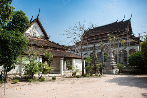 Tuinposter Bedehuis Wat Bo beautiful temple is under construction in Siem Reap, Cambodia
