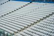 Empty white seats in stadium