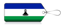 Lesotho Flag Label, Made In Le...