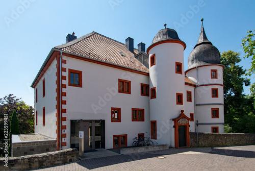 Fotografie, Obraz  Am Renaissance-Schlösschen Eichenzell, Hessen, Deutschland