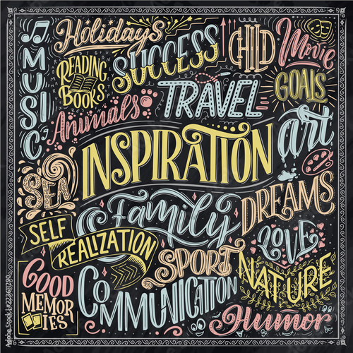Poster with different type of inspirations. Inspirational ...