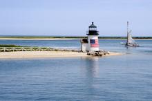 Sailing Past Lighthouse On Nan...