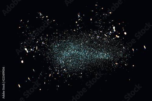 Fotografie, Obraz  Black Glitter Background