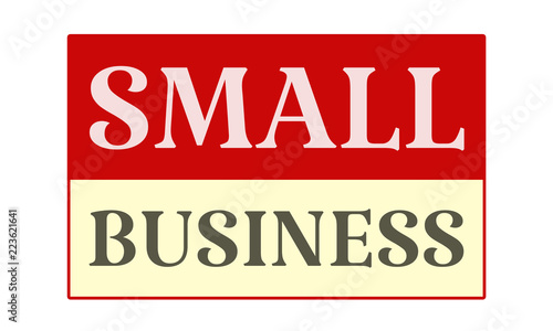 Small Business - written on red card on white background