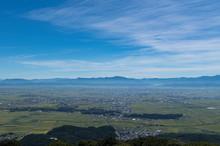 弥彦山パノラマタワーから観る景色 燕市方面
